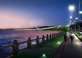 江畔夜景意向图