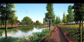 木栈道生态水景景观