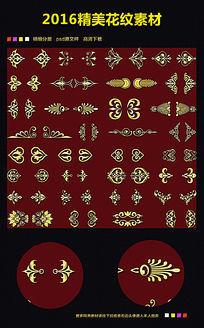 欧式底纹高档金色图案图片下载
