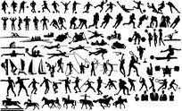 运动人物素材图 PSD