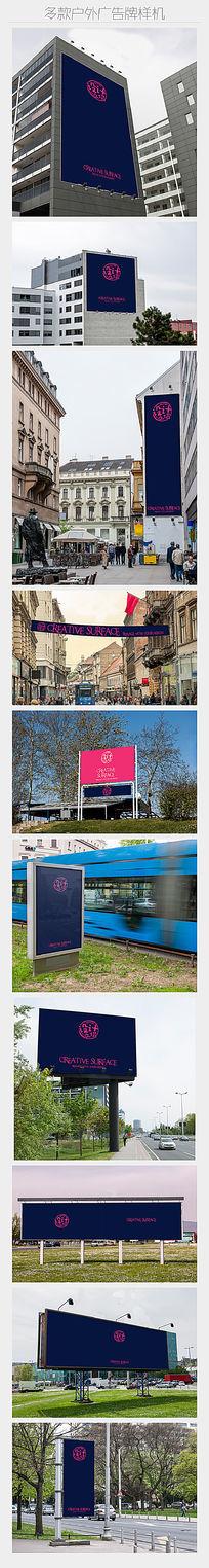 10款户外大型广告牌展示样机 PSD