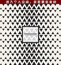 抽象几何三角花纹