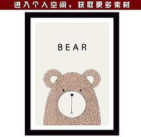 可爱卡通小熊头像相框 EPS
