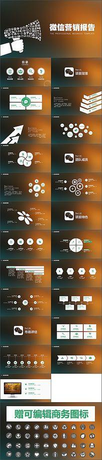 微商微信朋友圈营销报告商业策划计划书ppt模板