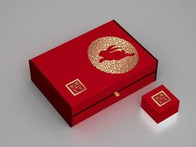 中秋玉兔月饼盒包装
