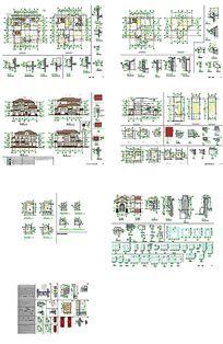 CAD别墅住宅建筑设计图纸