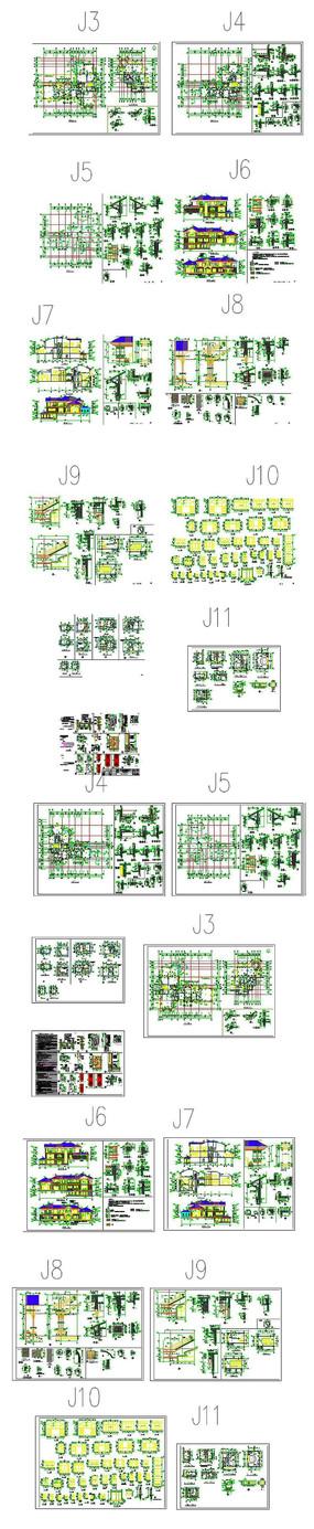 CAD别墅住宅图纸