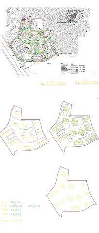 别墅地产总平面CAD图