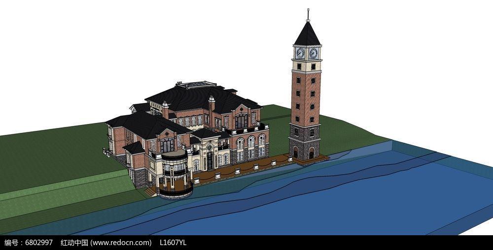 滨海欧式钟楼别墅