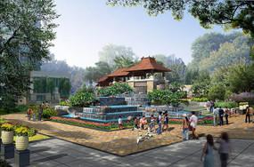 城市公园景观效果图