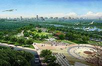 大型公园景观效果图