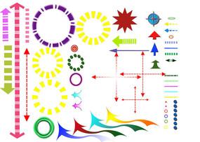 分析图素材彩色箭头