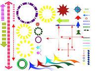 分析图素材彩色箭头 PSD