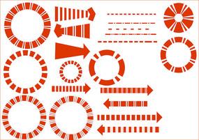 分析图素材红色箭头