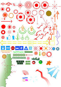 分析图素材箭头标识