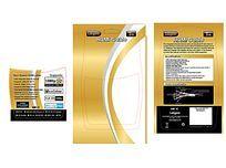 金黄色纸卡电子产品包装设计Ai素材
