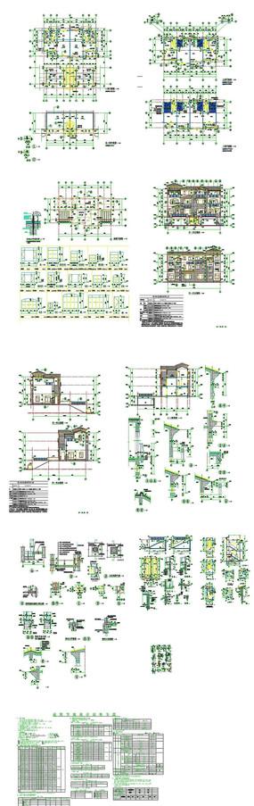 楼房别墅全套CAD图纸