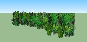 绿植墙植物墙SU模型