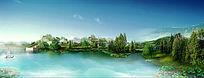 生态公园景观效果图