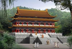 寺庙效果图