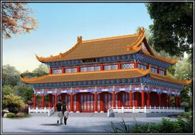 寺庙效果图设计