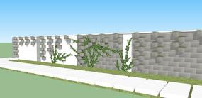 植物墙的SU模型
