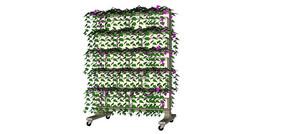 植物装饰花移动隔墙SU模型