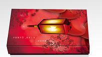 中国红情人节礼盒包装礼盒模板