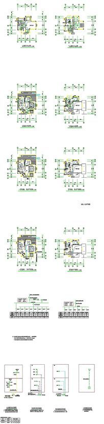 住宅CAD电气施工图 dwg
