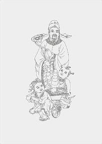 福星神话人物线稿
