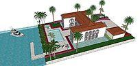 水景泳池别墅