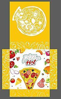 黄色清新披萨包装