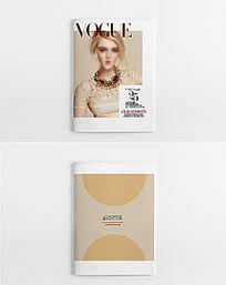 简约时尚女神超模杂志封面