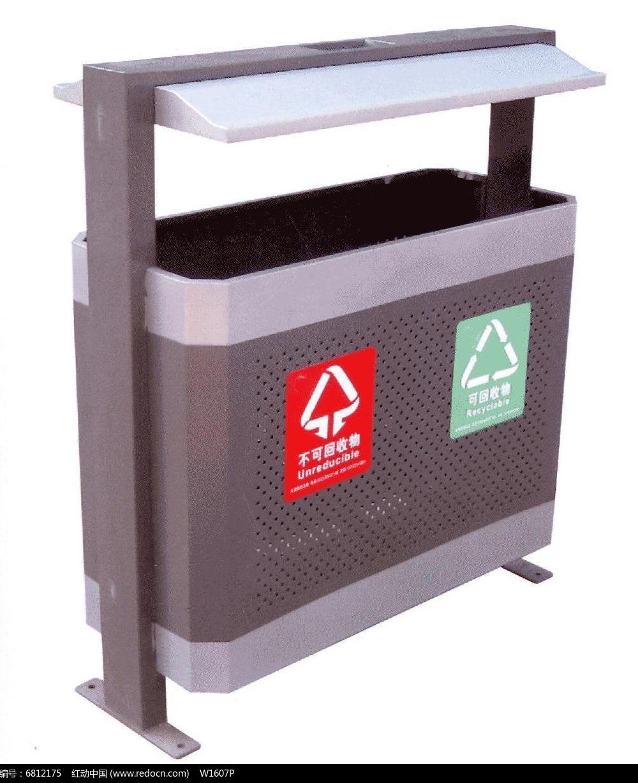 可回收和不可回收分类垃圾桶图片