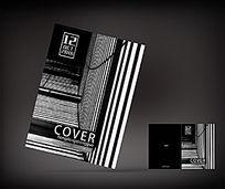 时尚黑白简约杂志封面