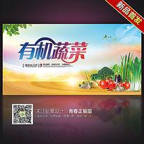 有机蔬菜纯天然绿色食品宣传海报设计