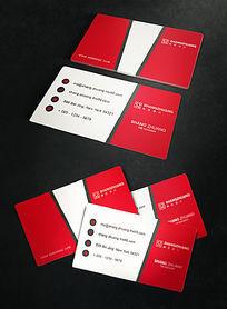 创意红色名片