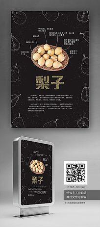 创意食堂文化梨子展板设计
