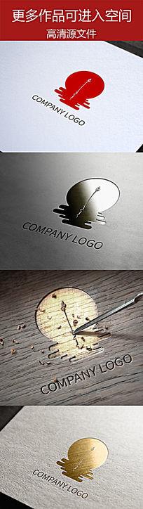 古色古香荷塘月色文化产品标志