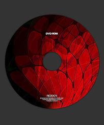 红色科技光盘 PSD