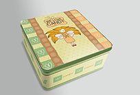 卡通可爱马口铁盒