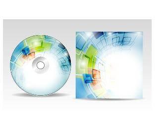 蓝色科技CD光盘包装盒图片