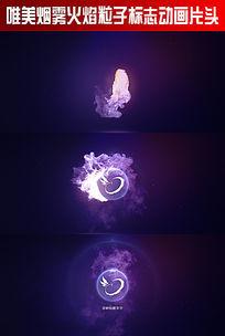 唯美烟雾火焰粒子标志动画片头