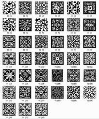 39张方形黑白墙绘图案