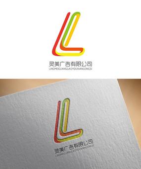 彩色线条广告公司LOGO