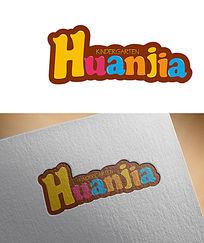 彩色字母幼儿园LOGO