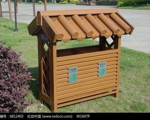 公园创意小房子垃圾桶