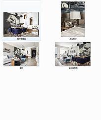 现代餐厅酒柜客厅床头效果图