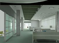 办公室装修效果图素材 PSD