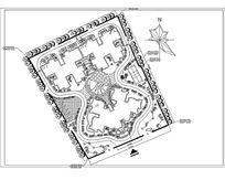 公园广场设计方案图 dwg